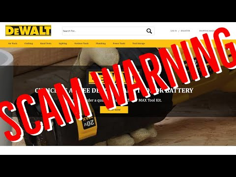 Tool Scam Site Warning - Do Not Approach - DeWALT, Porter Cable, Milwuakee & Others. #TCIAL