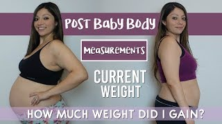 Post Baby Body STATS | WEIGHT GAIN | Measurements | GRACIE'S NEW JOURNEY