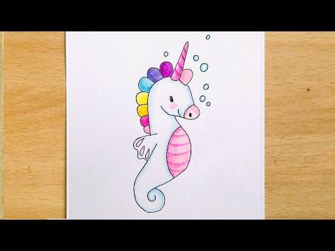 How to Draw Unicorn Seahorse