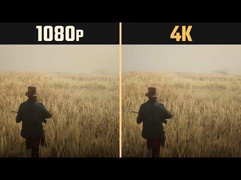 Red Dead Redemption 2 1080p vs. 4K 2160p