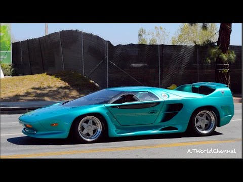 WHAT IS THIS? RARE Vector Avtech WX-3 Twin Turbo Engine Start Up & Acceleration Sound