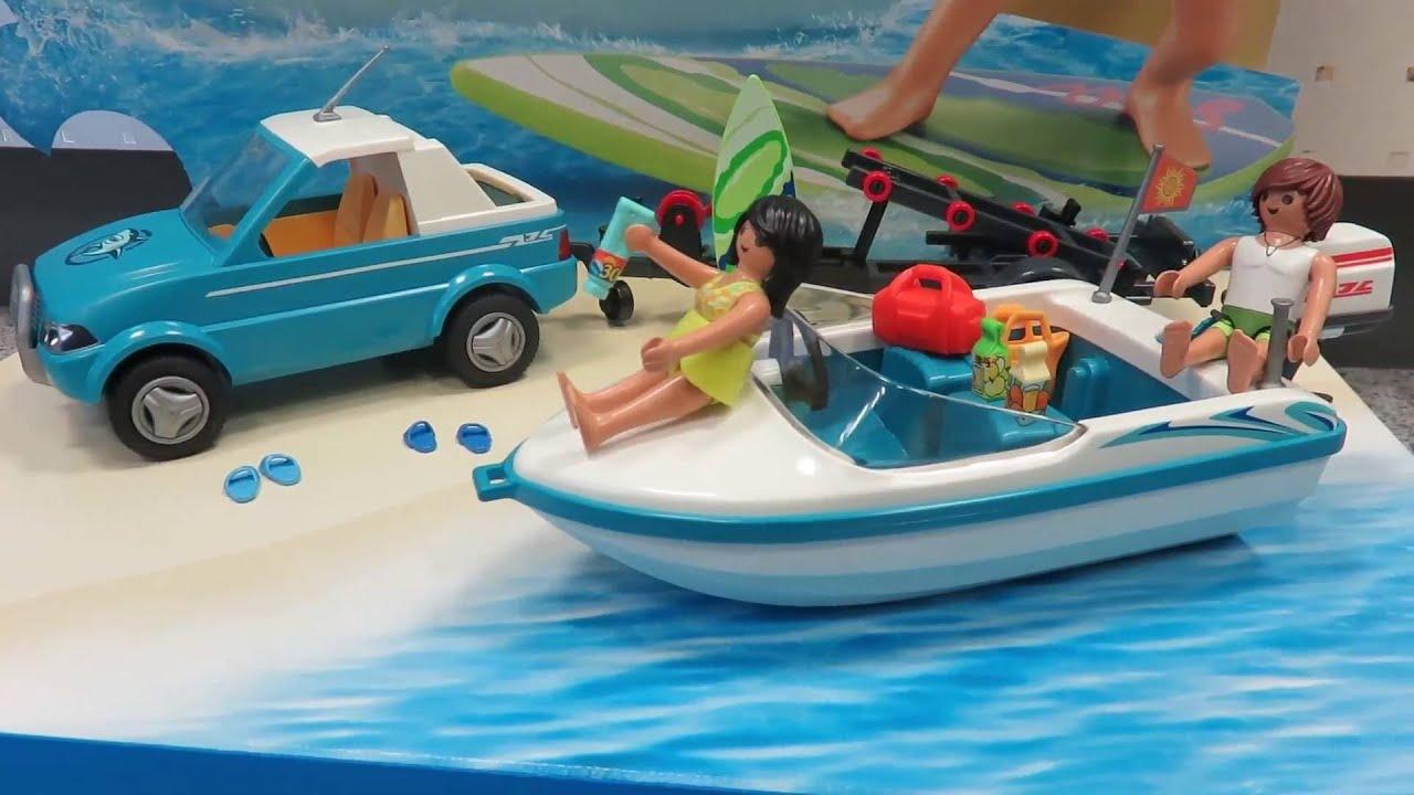 Playmobil 6864 Surfer Pickup Mit Speedboat Präsentiert Von Www