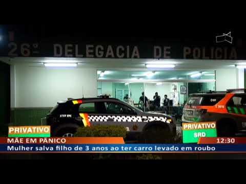DF ALERTA - Mulher salva filho de 3 anos ao ter carro levado em roubo