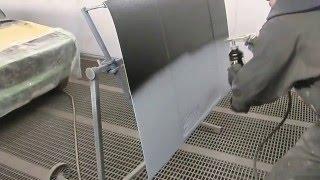 Этапы нанесения покрытия / покраски U-Pol Raptor - 3. Нанесение черного Раптора