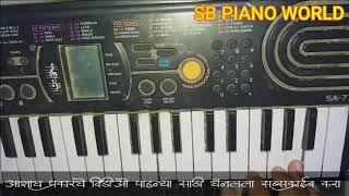 SAPNO ME ANA HUMKO SATANA | SAJAN BENDRE NEW SONG | ON PIANO | SB PIANO WORLD