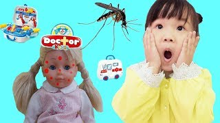 Rice Pretend Play with doctor toys 😢 Indoor Playground for Kids 💖 Funny Video for children