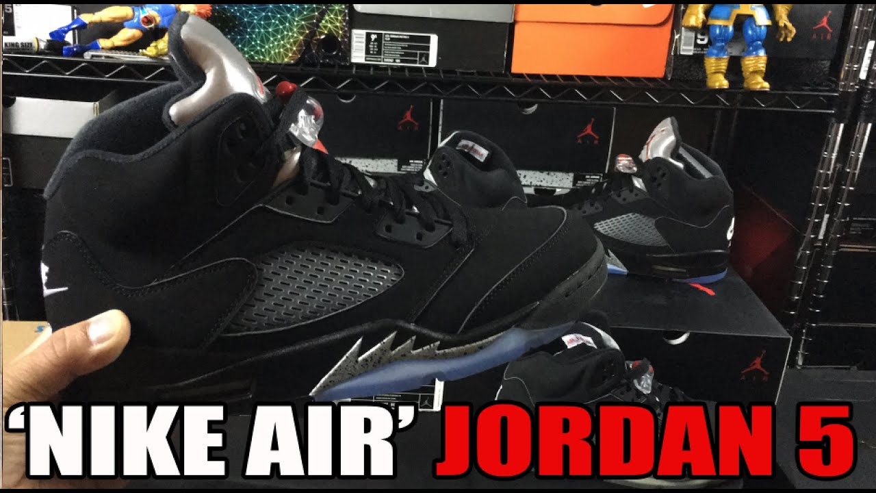 4afd42917c424e Why is  Nike Air  better than the Jumpman Branding  Metallic Silver 5 V  Comparison - YouTube