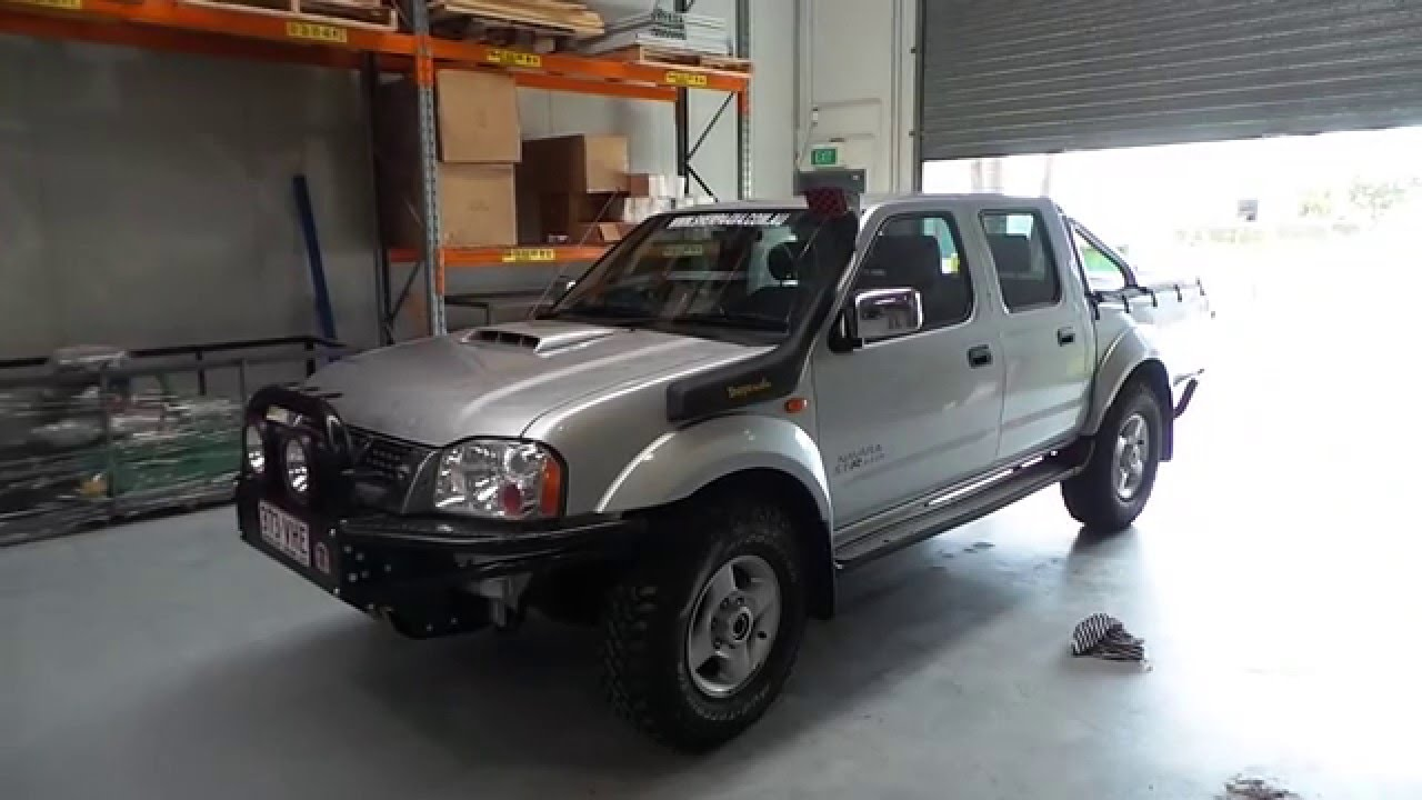 nissan navara d22 snorkel install sherpa 4x4 youtube. Black Bedroom Furniture Sets. Home Design Ideas