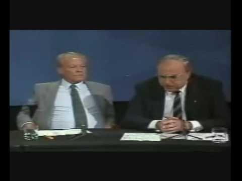 Willy Brandt und Helmut Kohl