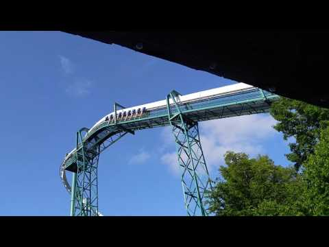 The alpengeist roller coaster at Busch Gardens in Williamsburg Virginia