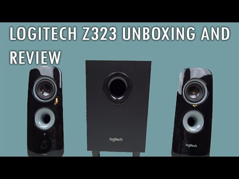 Logitech Z323 Speakers UNBOXING AND REVIEW