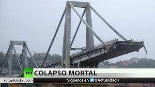 Tragedia en Italia: Lo que se sabe hasta ahora sobre el derrumbe del puente de Génova