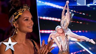 Incredible GYMNASTS show STRENGTH, beauty & elegance   Unforgettable Audition   Britain's Got Talent