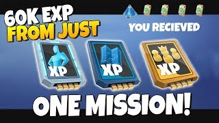 HOW TO GET 60k+ Schematic/Hero/Survivor XP From MISSIONS | Fortnite Save The World