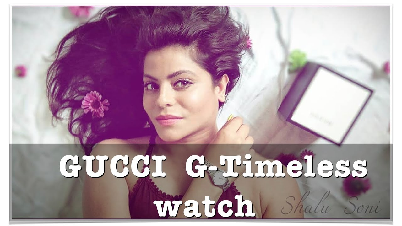 59d485cac4d Unboxing Gucci - G Timeless woman wrist watch review - YouTube