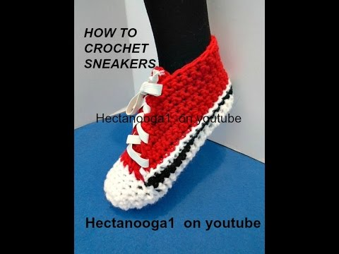 How To Crochet Trainer Sneakers Fits 6 10 Years Crochet Pattern