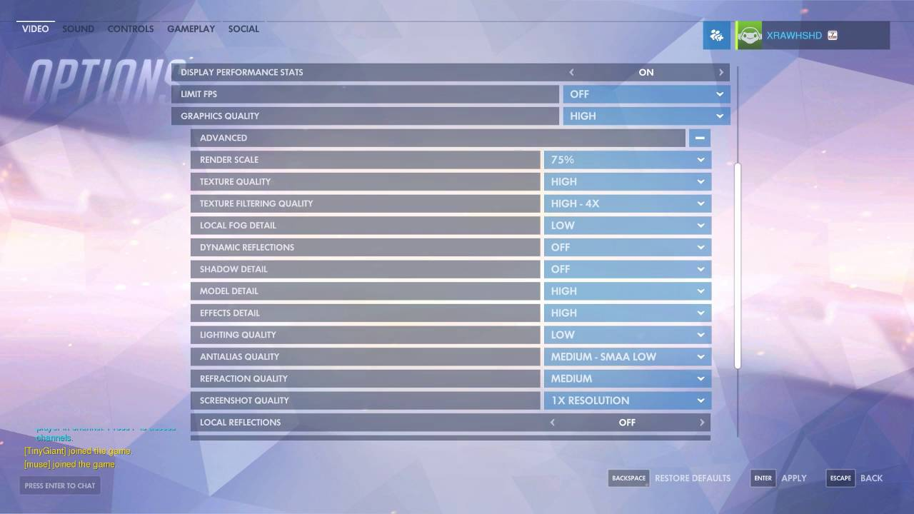Overwatch PC 1080p High FPS & Quality Settings Guide