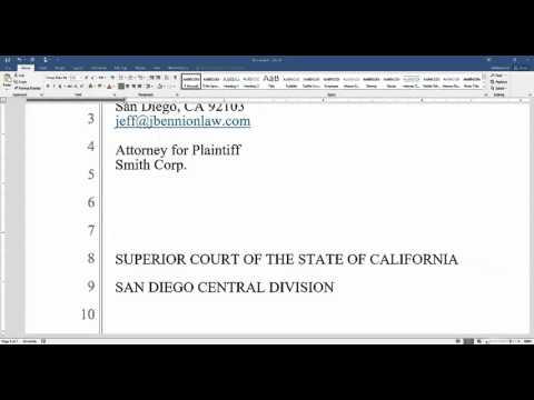 How to Prepare and Format a Legal Pleading in Word 2016