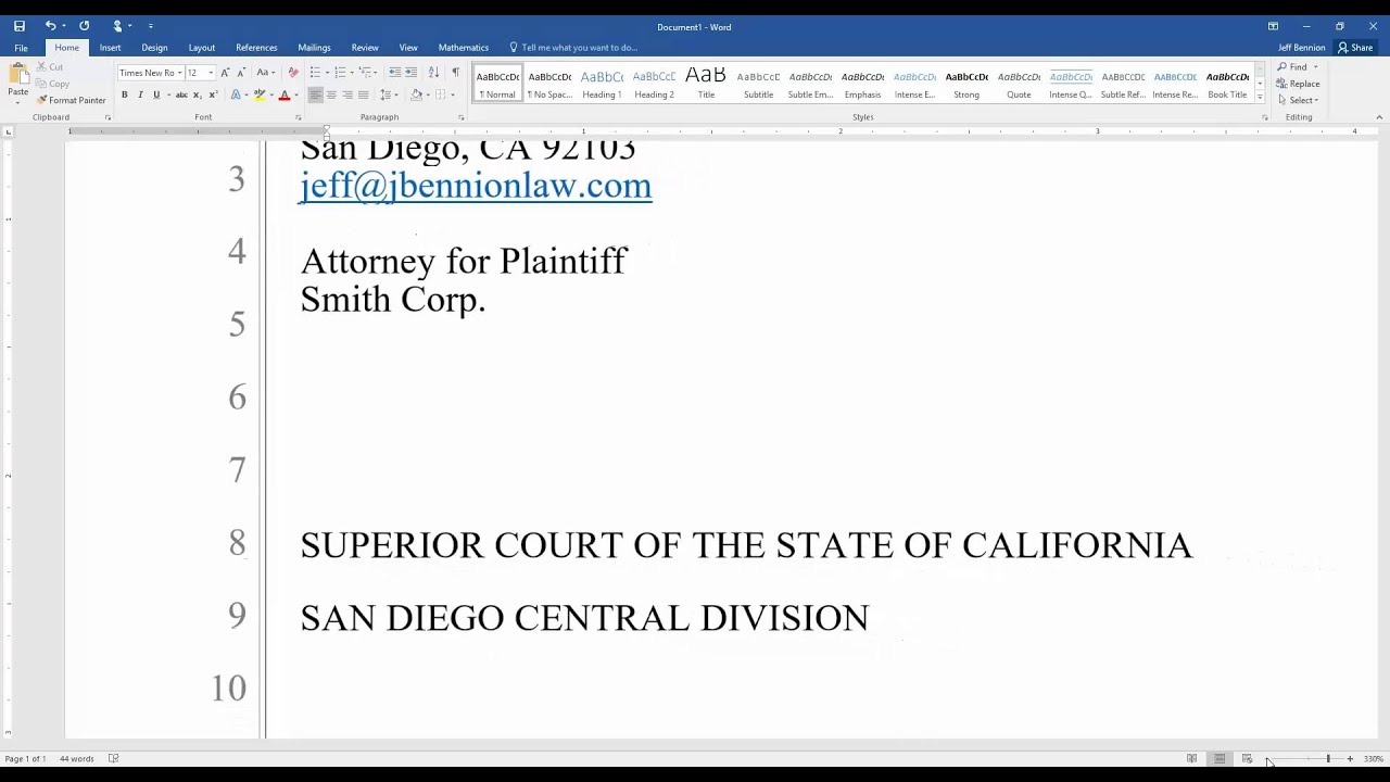 Pleadings Template. how to prepare and format a legal pleading in ...