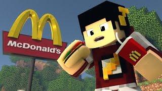 Minecraft: TRABALHO NO McDonald's - Batalha de Construir ‹ AM3NIC ›
