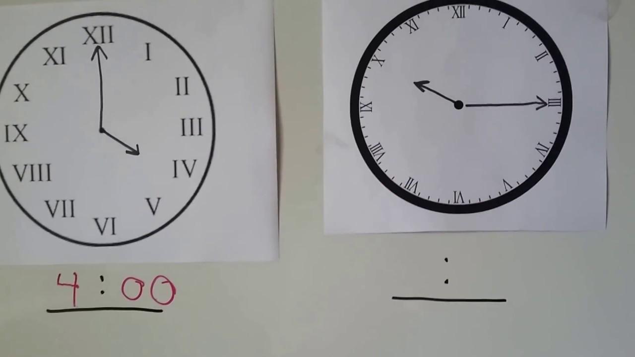 Grade 2 Math 711 Roman Numerals On A Clock Youtube - 3-roman-numerals-clocks
