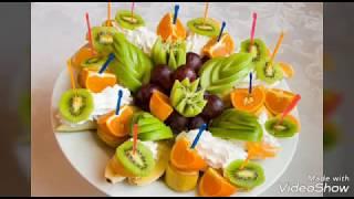 Идеи нарезок фруктов и овощей на праздничный стол
