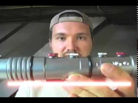 DIY Darth Maul Star Wars Episode I home made lightsaber video 5 of 5