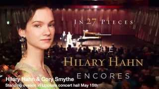 Hilary Hahn & Cory Smythe -- Standing ovation in Uppsala