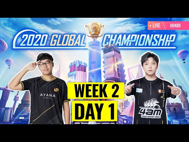 [Hindi] PMGC 2020 League W2D1 | Qualcomm | PUBG MOBILE Global Championship | Week 2 Day 1