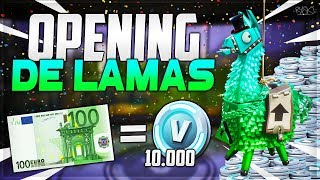 Fortnite: I'm opening 100 euros of Super Lamas or 10,000 V-Bucks! - ( Opening Save the World Pack)