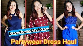 Partywear Dress/Gown Haul   Online Affordable Dress Haul @WMall Shopping   Rashmi Singh