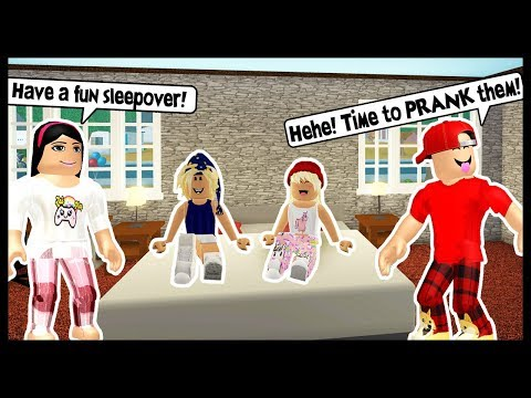 THROWING A SLEEPOVER FOR MY KIDS! LETS PRANK THEM! - Roblox