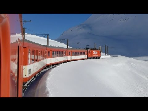 Swiss Trains: Glacier Express route; Climb to Oberalp
