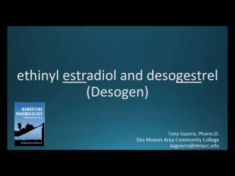 How To Pronounce Ethinyl Estradiol And Desogestrel (Desogen) (Memorizing Pharmacology Flashcard)