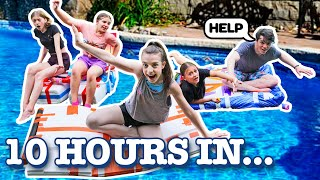 Download LAST TO SINK WINS $10,000 **SWIMMING POOL CHALLENGE** ⛵🚣 |Symonne Harrison Mp3 and Videos