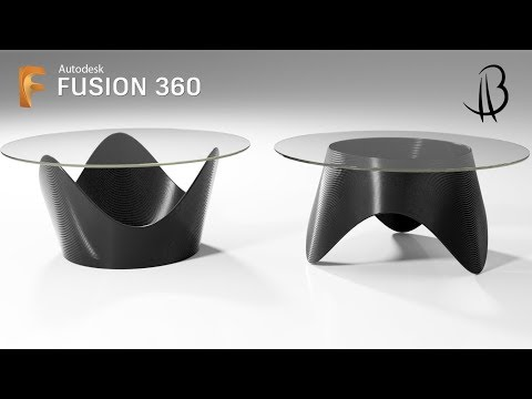 Furniture Design Speedrun 1 - Using Autodesk Fusion 360 - table