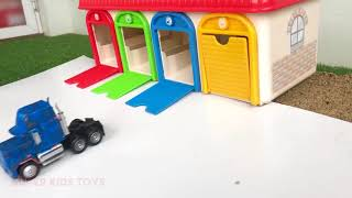 07 Mack Truck Fun Play with Watercolor Painting   Toys for Kids