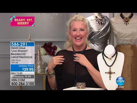 HSN   Heidi Daus Fashion Jewelry Gifts 12.07.2017 - 11 AM