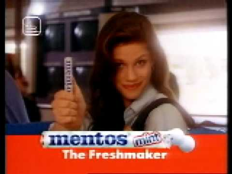 Mentos commercial Airport with Katie Wright from the 90s