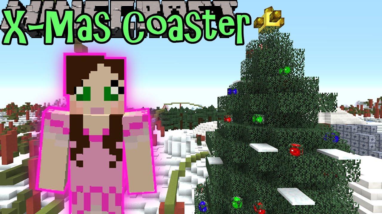 minecraft christmas coaster custom map youtube - Christmas Minecraft Videos