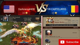 Clash Of Kings : KVK K408 vs K995 Rallies | Defended Pablo Solo's And Affliction Rally