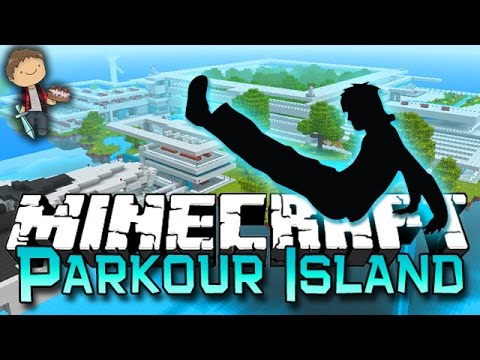 Minecraft: Parkour Island Race Madness! w/Mitch & Jerome! Quake Pro Hurts My Brain!