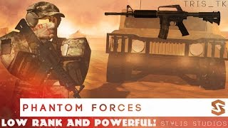 LOW RANKED BUT POWERFUL (M4A1) - ROBLOX Phantom Forces (BETA)