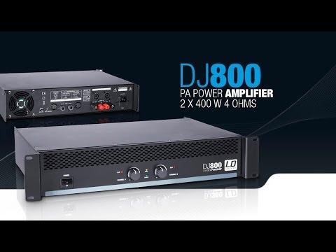 LD Systems DJ800 - PA Power Amplifier 2 x 400 W 4 Ohms