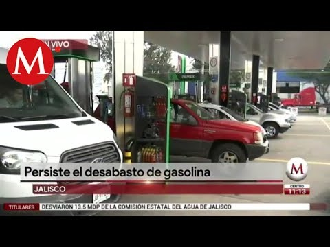 Persiste el desabasto de gasolina en Jalisco