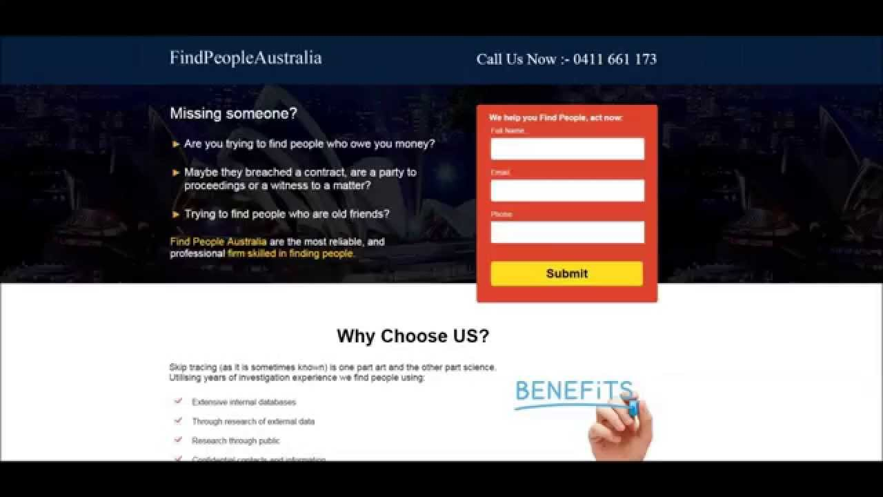 How to find someone in australia