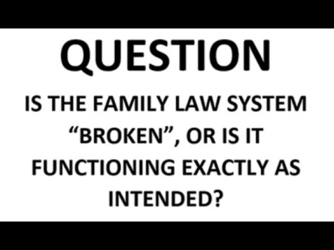 The family law system in America is ripping lives apart.