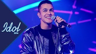 Liam Cacatian Thomassen sjunger Can't feel my face i Idol 2016 - Idol Sverige (TV4)