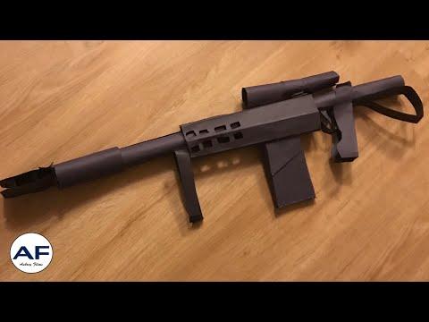 How to make a paper M107 Barrett (sniper) (timelapse) | Aubrey Films