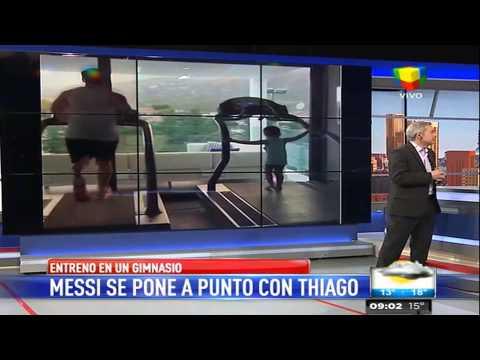 Antonella Roccuzzo: Leo y Thiago entrenan y yo engordo
